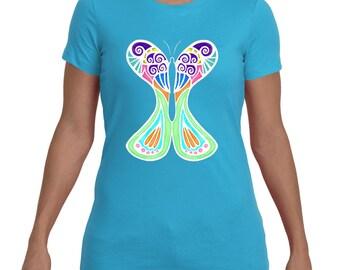 Mosaic Luna Moth - Tee