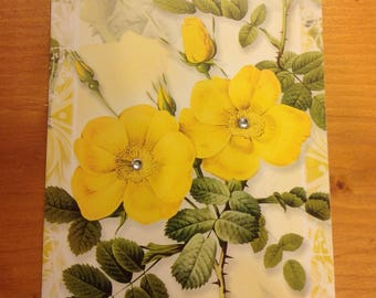 """""""Flowers"""" - perfect card for any occasion - birthday, party... Hand made"""
