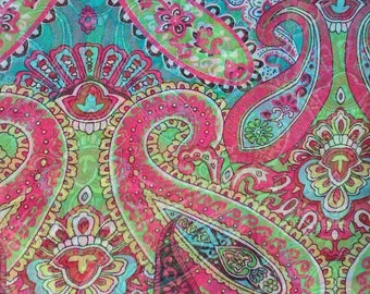Paisley Boho Shawl Chiffon Georgette Silk Polyester Scarf Bohemian Paisley Scarf Bandana Wrap Hijab Paisley Blue Pink Scarves Women  Scarf