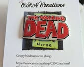 The walking dead//pin//shrink plastic//