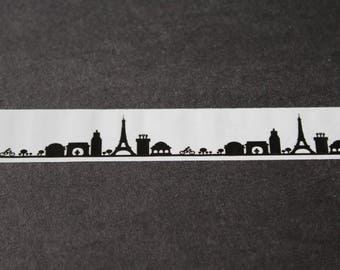 10 m roll of adhesive Paris Eiffel Tower black and white