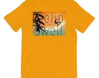 Feeling the Swell Back Print Short-Sleeve Unisex T-Shirt