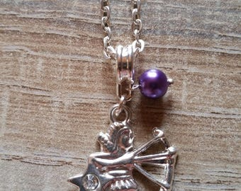 Necklace purple Sagittarius zodiac sign