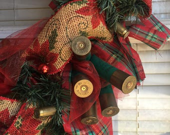 "Casings Wreath featuring Shotgun shell ""bow"""