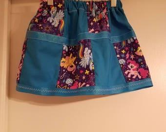 Patchwork Pony skirt size US 4T/gift for little girl/ character dress-up skirt/handmade pattern skirt