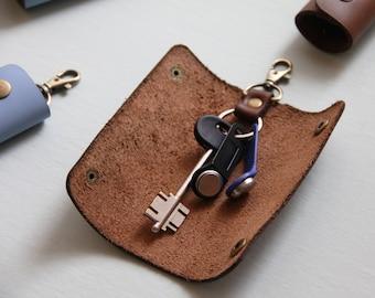 Leather Key Holder, Key Holder, Leather Key Case, Key Case, Key Pouch, Pocket Key Holder, Key Purse, Key Organizer, Slim Key Holder, Keys