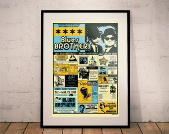 Blues Brothers Movie Print (Movie Posters // Film Posters // Dorm Room Ideas // Wall Decor)