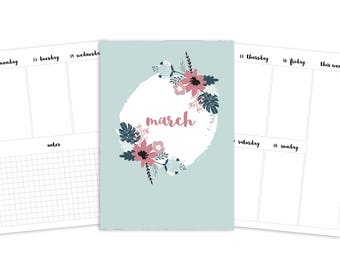 B6 March Weekly Printable Insert - TN - Spring Blooms