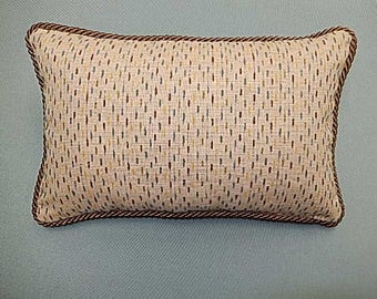 Pin Stripe Pillow - Brown, Blue, Green - Decorative, Couch, Living Room, Bed Pillow