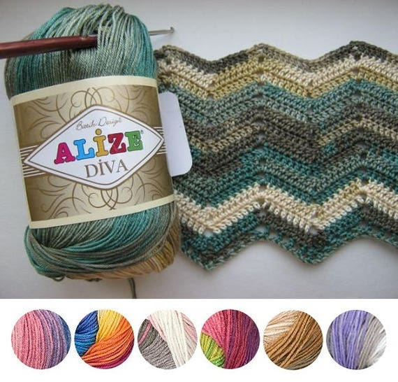 Yarn Alize Diva Batik Yarn 100% Microfiber Yarn Hypoallergenic