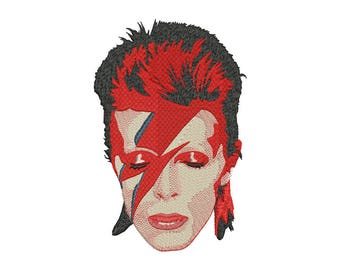 David Bowie Embroidery Design - 5 SIZES