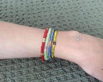 Harry Potter seed bead bracelets