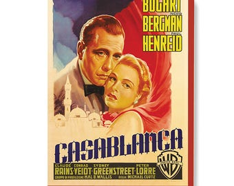 Vintage Movie Poster Art - Casablanca