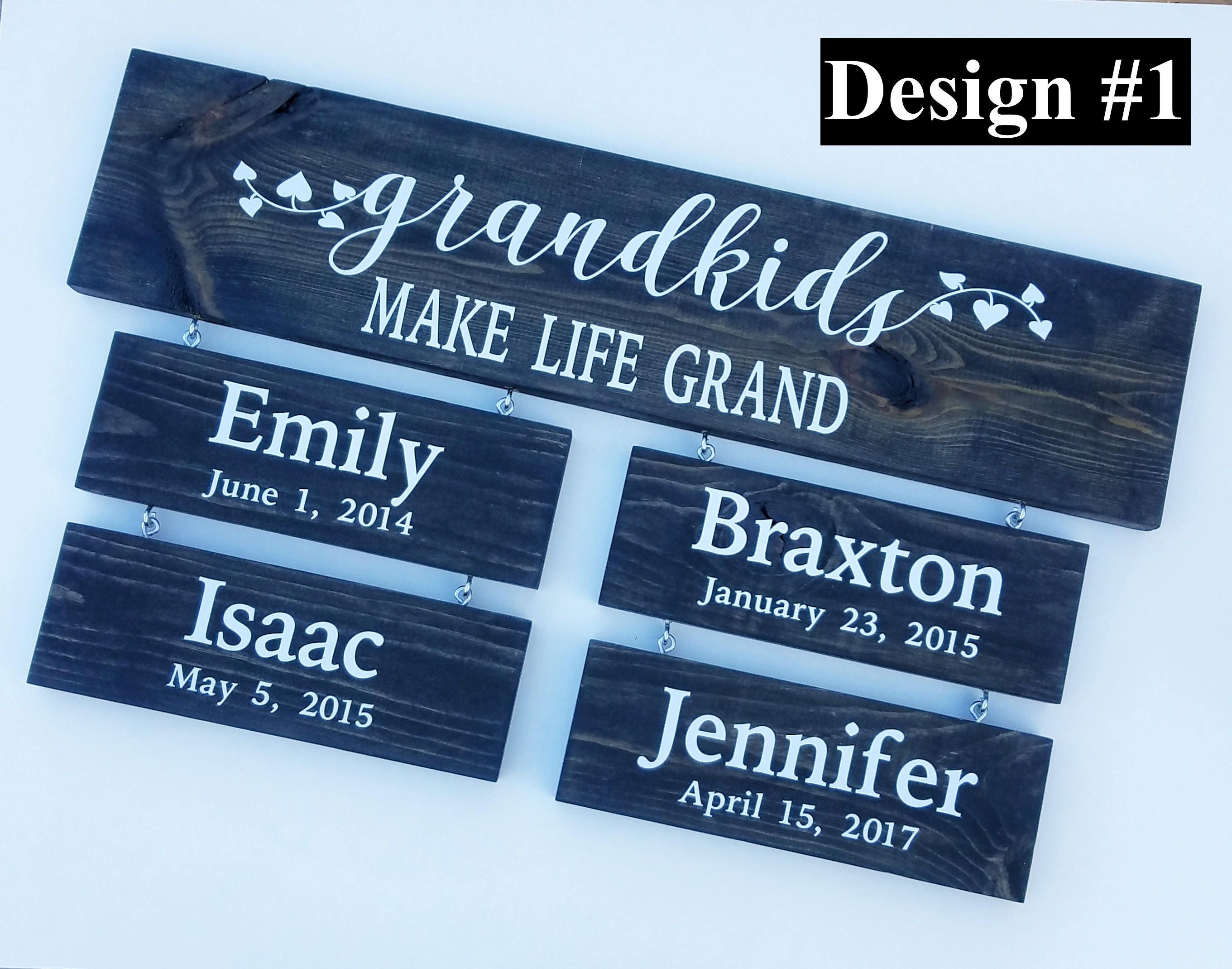 GRANDKIDS Make Life Grand, Gifts for Grandparents, Grandparents Sign ...