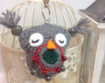 Christmas Keychain Owl,Xmas Gift,Ideas For Coworkers,Christmas Party Favors,Presents For Friends,Small Gifts,Stuffed Owl Key,Chain Keyring