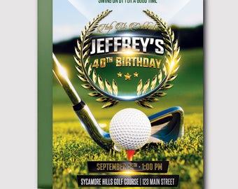 Golf Birthday Invitation