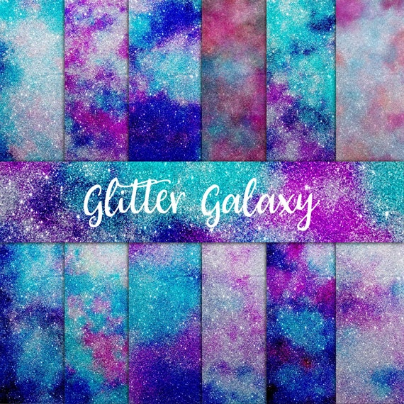 Glitter Backgrounds Galaxy Paper Pack Digital Paper Ombre