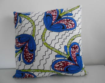 45 cm x 45 cm in African fabric Cushion cover