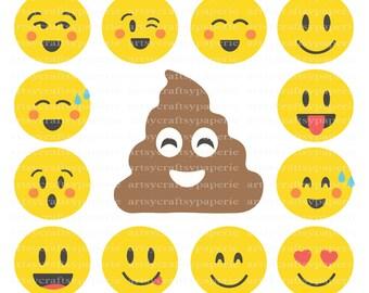 INSTANT DOWNLOAD -  Emoji Svg Files for Cricut, Svg Christmas, Svg Files for Silhouette, Svg Bundle, Svg Designs, Emoji Poop, Svg Design