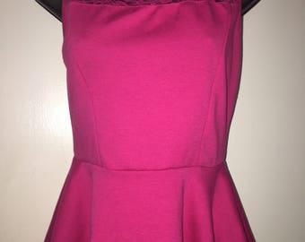Pink Peplum Shirt
