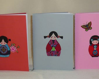 Set of 5 cards patterns Japanese pack 2