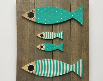 """Table sardines - """"The family in blue"""""""