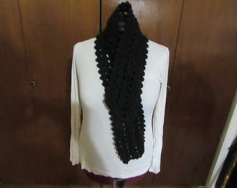 Black Lattice Scarf