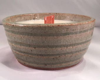 Carved Stoneware Citronella Candle