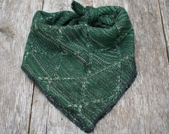 Cozy Green Sweater Dog Bandana