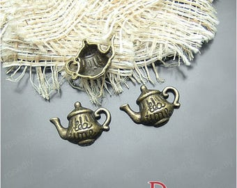 10 charms in bronze 18 * 14mm teapot D20684