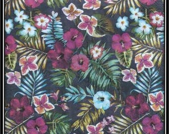 """""""Hibiscus flowers and foliage"""" paper towel"""
