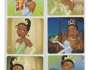 "25 Princess and the Frog Stickers, 2.5"" x 2.5"""