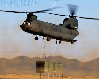 """Military Friends Chinook - Poster Print 16"""" x 20"""""""