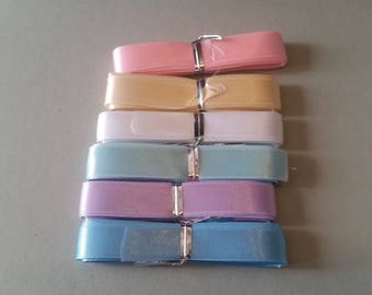 6 colors either 6 ribbons satin approximately 2.65 m each - 12 mm