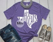Abilene Christian University Tee - Purple ACU Tee - ACU Wildcats Shirt - College Football Tee - ACU Football Tee - College Spirit Tee