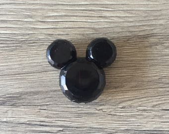 Pearl acrylic Mickey or Minnie - black mouse head