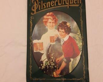 Tin Beer Sign Pilsner Urquell