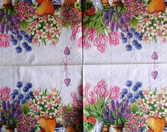 TOWEL in paper flowerpots varied #F012