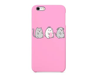 Happy Three Friends Fluffy Pets Cute Animals 3D full-print Phone case for / iPhone / Huawei /Samsung Galaxy