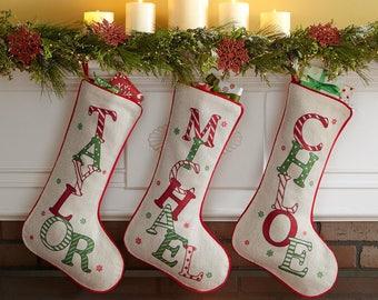 Christmas Stocking,Personalized Stockings,Personalized Christmas Stockings,Monogrammed Christmas stockings,Gift for him, Gift for her