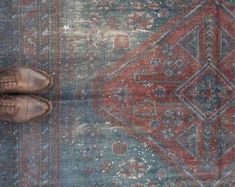 EPIC OVERDYED COLLECTION / Distressed Overdyed Turkish Rug - Anatolian Turkish Rug - Boho Overdyed Rug - Bohemian Rug - Tribal Rug