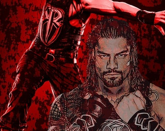 Roman Reigns Poster Print (Digital Download) wwe , The Shield , (This IS a Digital Download ONLY)