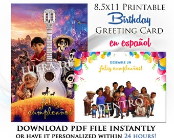 Coco Printable Digital Birthday Card