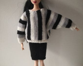 Sweater and skirt doll