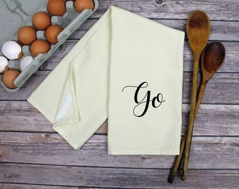 Kitchen Dish Towel - Tea Towel - Go