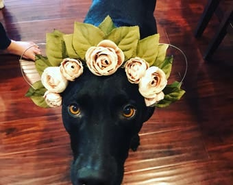 Flower crown ears