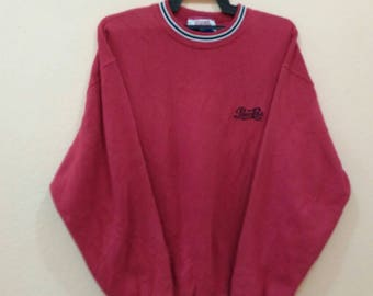 PEPSI COLA sweatshirt spellout embroidery red colour LL size