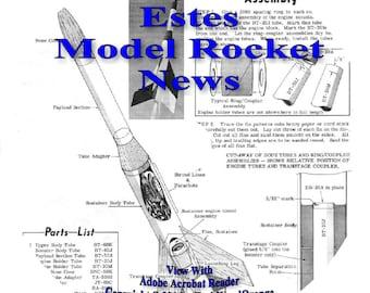 Estes Model Rocket News, 24 Newsletters on CD, Rocketry Books Catalogs Plans