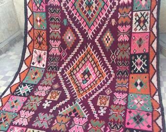 Vintage Boujad carpet, moroccan carpet,Boujad rug, vintage carpet, 300x170cm,berber textiles, berber carpet,