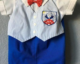 Vintage baby sailor suit